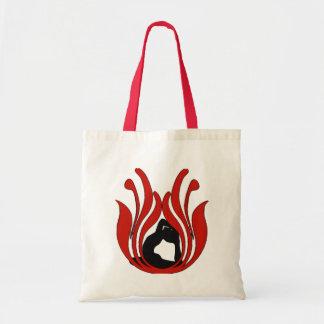 Abstract Lotus - Yoga Tote Bags