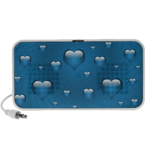 abstract love blue hearts Speakers