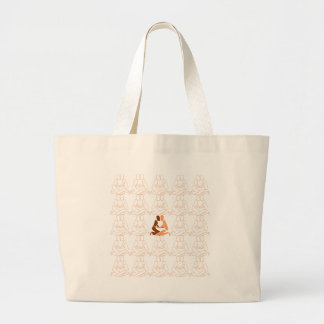 Abstract Love brown and tan outline Large Tote Bag