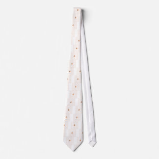 Abstract Love brown and tan outline Tie