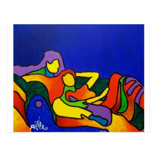 Abstract Love by Piliero Postcard