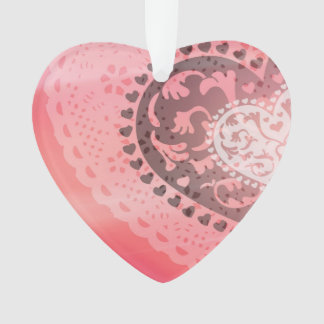 Abstract Love Pink Heart Beautiful Ornament