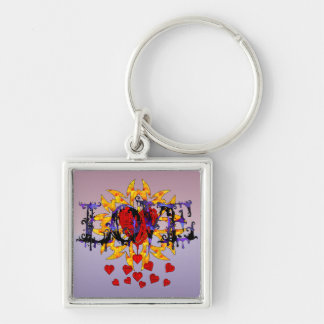 Abstract Love Valentine Keychain