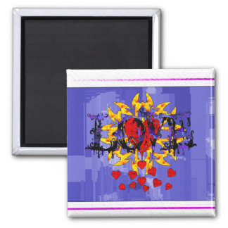 Abstract Love Valentine Magnet