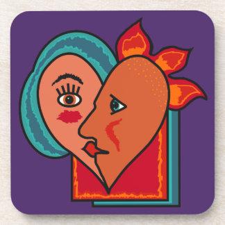 Abstract Lovers custom coasters