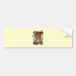 Abstract Lovers In Brown Car Bumper Sticker
