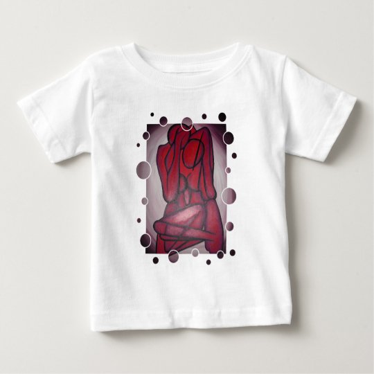Abstract Lovers in Red Baby T-Shirt