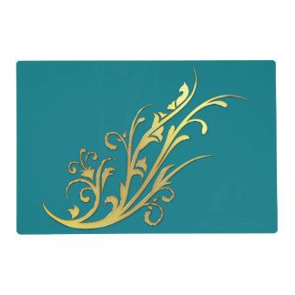 Abstract Luxury Faux Gold Flower Placemat
