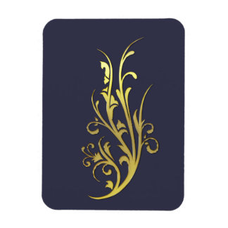Abstract Luxury Gold Flower Magnet