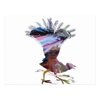 Abstract Lyrebird silhouette Postcard
