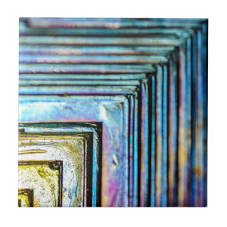 Abstract Macro Bismuth Mineral Ceramic Tile
