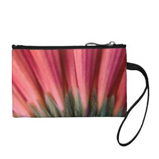 Abstract Macro Red and Pink Gerbera Flower Change Purse