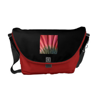 Abstract Macro Red and Pink Gerbera Flower Courier Bag