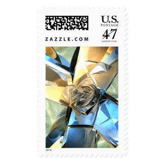 Abstract Macro Structure Postage