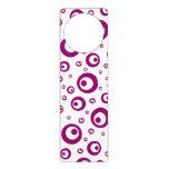 Abstract Magenta Polka Dots Door Hanger