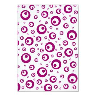 Abstract Magenta Polka Dots 3.5x5 Paper Invitation Card