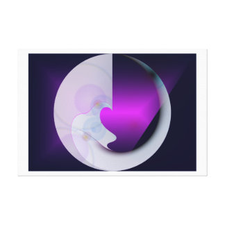Abstract Man in the Moon Purple/Blue Canvas Print