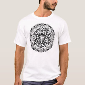 Abstract Mandala Design T-Shirt