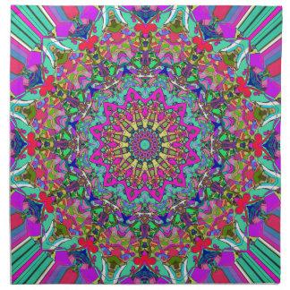 Abstract Mandala Flower Cloth Napkin