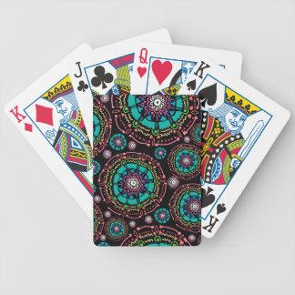 Abstract Mandala Pattern Bicycle Playing Cards