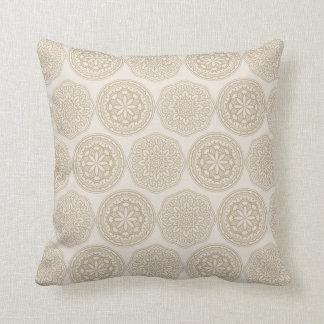 Abstract mandala pattern throw pillow