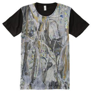 Abstract Mangrove All Over Print T Shirt