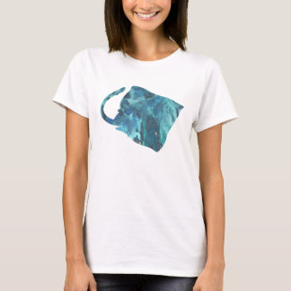 Abstract manta ray silhouette T-Shirt