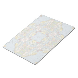 Abstract Map of Europe Notepad