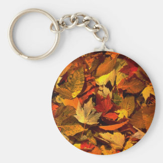 Abstract Maple and beech leaves Keychain