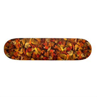 Abstract Maple and beech leaves Skate Board Decks