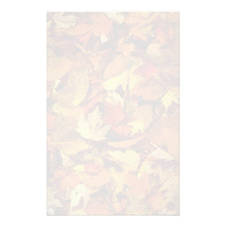 Abstract Maple and beech leaves Customized Stationery