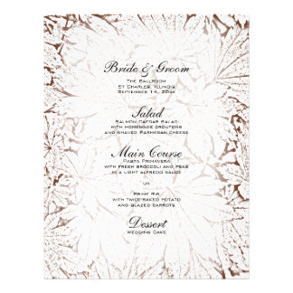 Abstract Maple Leaves Wedding Menu Personalized Flyer