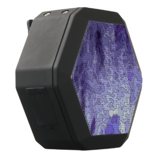 abstract maps blue black bluetooth speaker