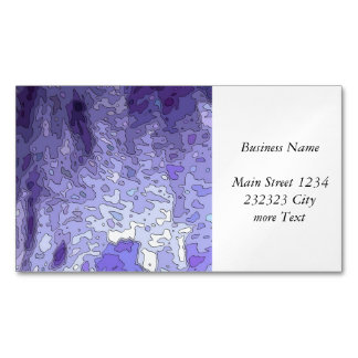 abstract maps blue business card magnet