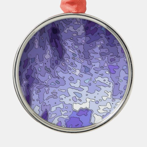 abstract maps blue ornament
