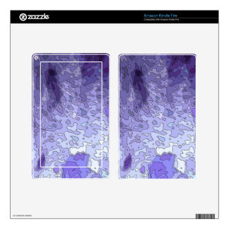 abstract maps blue kindle fire decals
