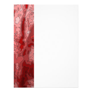 abstract maps,deep red personalized letterhead