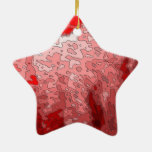 abstract maps,deep red ornaments