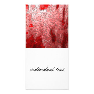 abstract maps,deep red photo card
