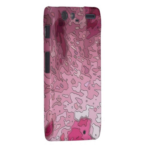 abstract maps, pink motorola droid RAZR cover