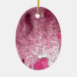 abstract maps, pink ornament