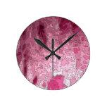 abstract maps, pink wall clocks