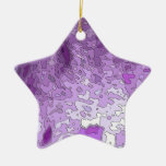 abstract maps purple ornaments