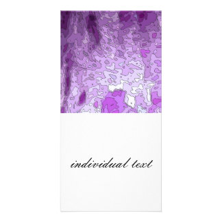 abstract maps purple photo card