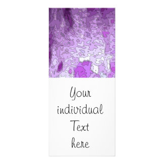 abstract maps purple rack card design