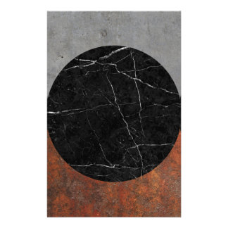 Abstract - Marble, Concrete, Rusted Iron Stationery