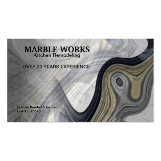 Abstract Marble Kitchen Remodeling Service Business Card