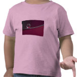 Abstract Marble on metal rim T-shirts