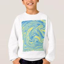 Abstract marble pattern sweatshirt