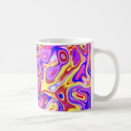 Abstract Marble Swirl Girly Coffe Mug